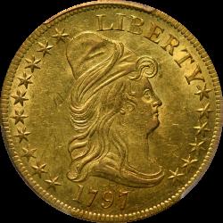$10 Draped Bust 1797 MS-62 PCGS