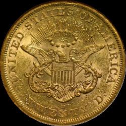 $20 Liberty Type 1 1854-S AU-53 NGC