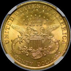 $20 Liberty Type 3 1897 MS-64 reverse