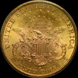$20 Liberty Type 3 1897-S MS-64 reverse
