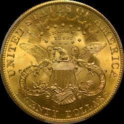 $20 Liberty Type 3 1904 MS-65+ reverse