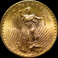 $20 Saint Motto 1923-D MS-65 PCGS