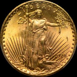 $20 Saint Motto 1928 MS-66 obverse